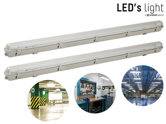 Duo-Pack LED's Light LED-Feuchtraumleuchte mit LED-Leuchtröhre | 18 W | IP65
