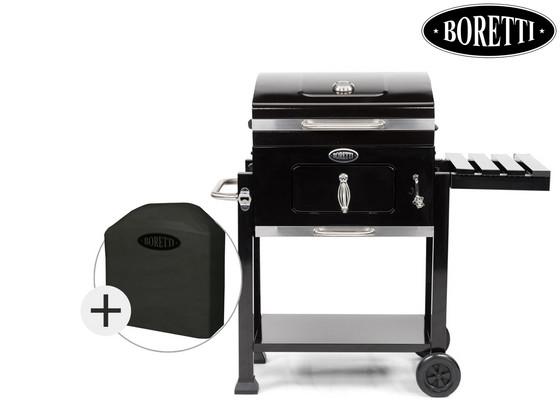 Boretti Carbone Houtskool BBQ + Beschermhoes