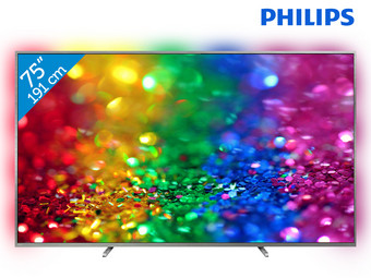 Philips 75″ 4K Ultra HD Smart TV met Ambilight | 75PUS8303/12