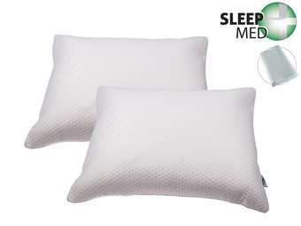 2x SleepMed Memory Foam Kussen
