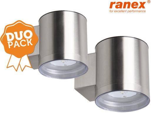 duopack ranex led wandlamp op zonne energie internet 39 s best online offer daily. Black Bedroom Furniture Sets. Home Design Ideas