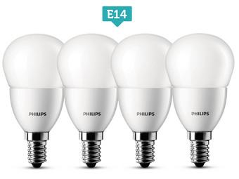 philips led lampjes of spots 4 pack met e27 e14 of gu10 fitting internet 39 s best online offer. Black Bedroom Furniture Sets. Home Design Ideas