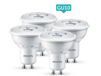 philips led lampjes of spots 4 pack met e27 e14 of gu10 fitting internet 39 s best online offer. Black Bedroom Furniture Sets. Home Design Ideas