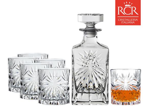 RCR Oasis Whiskeyset   Karaf + 6 Whiskeyglazen