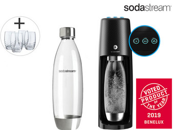 SodaStream Spirit One Touch Black | Elektrisch Bruiswatertoestel