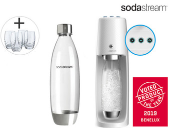 SodaStream Spirit One Touch White | Elektrisch Bruiswatertoestel