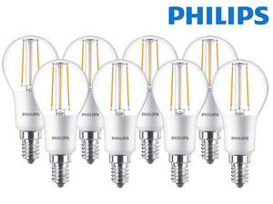 8x Philips Dimbare LED Classic