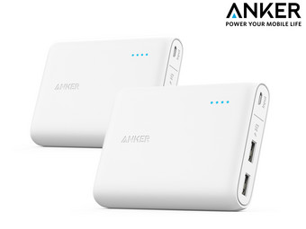 2x Anker PowerCore 13000 mAh Powerbank
