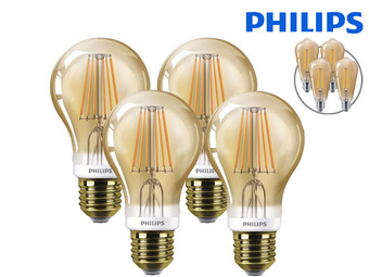 4x Philips LED Classic | Dimbaar | E27 | 2000 K