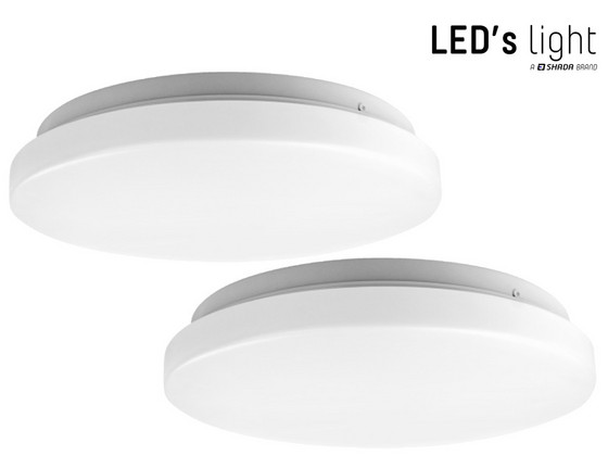 2x LED's Light LED-Plafonnière | Ø 26 cm | 14 W