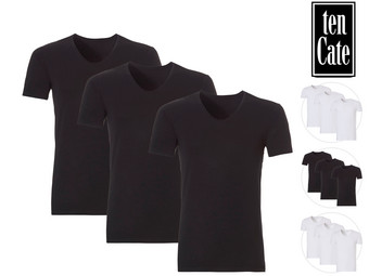 3x Ten Cate Bamboe T-Shirt | Crew of V-Nek