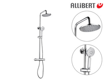 Allibert Lounge Duschsystem inkl. Thermostat | 150 mm