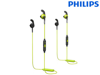 2x Philips Sport In-Ears met Bluetooth | SHQ6500CL