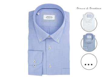 Browns & Brooklane Herrenhemd | Cutaway oder Button-Down