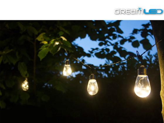 2x 5 Meter DreamLed Vintage Tuinverlichtingsnoer | 3000 K