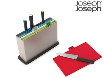 Joseph Joseph Index Advance Schneidebrettset mit Messern | 8-teilig