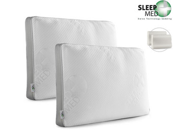 2x Sleepmed Memory Foam Kussen | Deluxe of Nekrol
