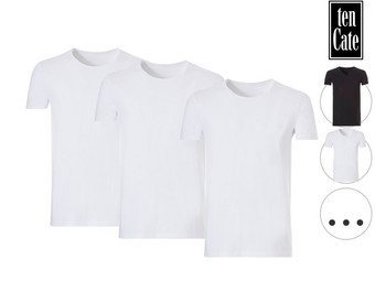 3x Ten Cate Organic Basic T-Shirt | Ronde Hals of V-Hals | Heren