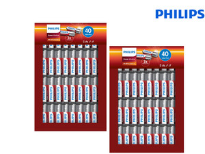 Philips Power Alkaline | 40x AA + 40x AAA