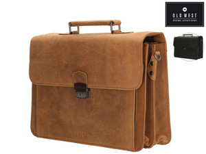 "Old West Leren Laptoptas (15"")"