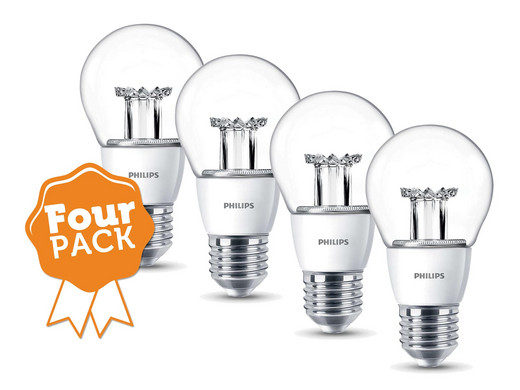 fourpack philips dimbare led lampen 40w equivalent e27 internet 39 s best online offer daily. Black Bedroom Furniture Sets. Home Design Ideas