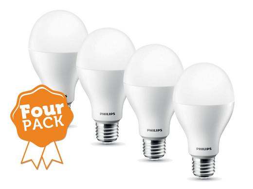 fourpack philips led lampen 75w equivalent e27 internet 39 s best online offer daily. Black Bedroom Furniture Sets. Home Design Ideas