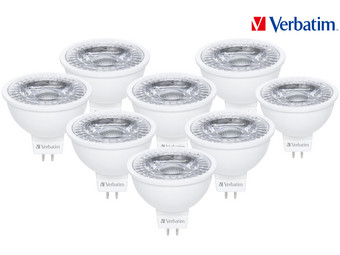 8x Verbatim MR16 LED-Lampen | GU5.3 | 3,3 W – 25 W | 2.700 K