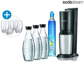 Sodastream Crystal 2.0 Incl. 3 Karaffen + 4 Glazen