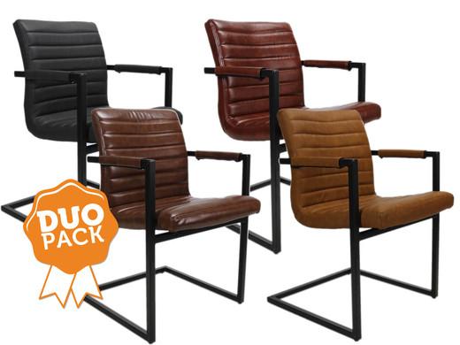 Stoel Metalen Frame : Bruut robuuste stoelen duopack internets best online offer