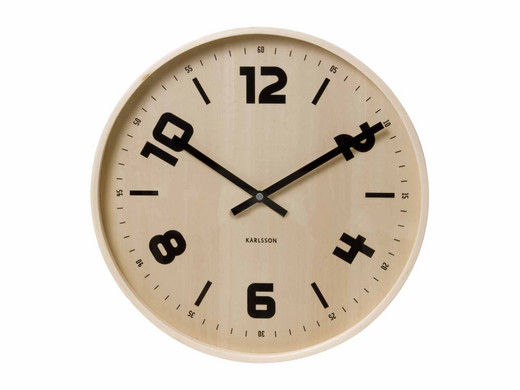 Karlsson Holz-Wanduhr Pure Wood - Internet\'s Best Online Offer Daily ...
