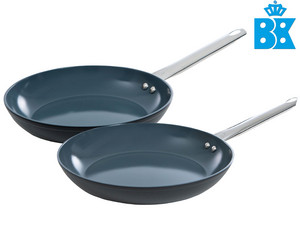 2x BK Induction Ceramic Koekenpan