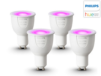 4x Philips Hue LED White and Colour Ambiance | GU10 | 16 Mio. Farben