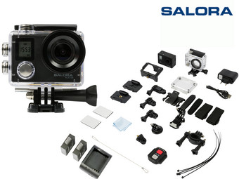 Salora Ace700 Wifi 4K Action Cam +  2 accu's