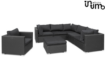 Intimo Luxe 6-persoon Wicker Loungeset Giulio met Poef