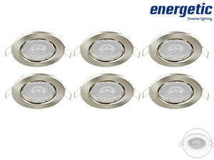 6x Energetic Dimbare LED Downlight