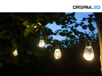 2x DreamLED LED-Lichterkette mit 10 Lampen | IP44 | 5 m