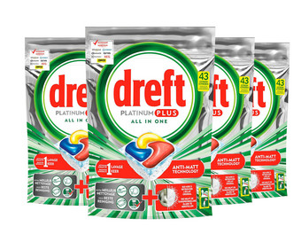 172 Dreft Platinum Plus Spülmaschinentabs