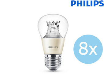 8x Philips P48 LED | 40 W | E27 | dimmbar