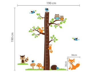 Naklejki Fox Tree Height Measure