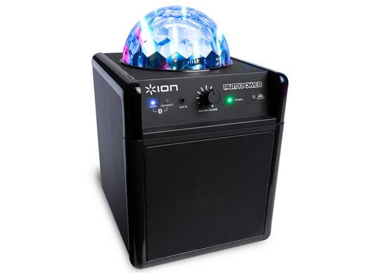 Speaker Met Licht : Ion party power tragbarer bluetooth lautsprecher mit discolicht