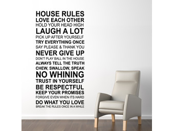 Muursticker House Rules Quote