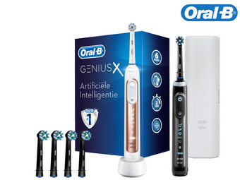 Oral-B Genius X 20900 Elektrische Tandenborstel | 3x CrossAction Opzetborstel