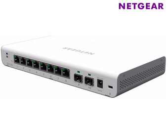 Netgear GC110P Cloud Managed Switch PoE | 8-Poorts + 2x SFP