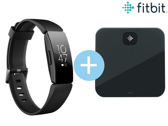 Fitbit Inspire HR Black & Aria Air Bundel