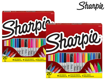 2x Sharpie Permanent Marker Assorti