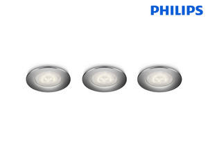 3x PHILIPS Sceptrum LED-Einbauspot | 270 lm