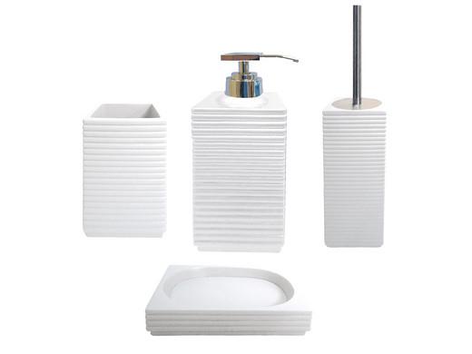 Akouarel Linio Badezimmer Accessoires-Set weiß - Internet\'s Best ...