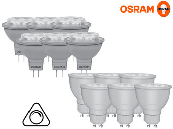 6 pack osram dimbare led reflectorlampen gu5 3 of gu10 internet 39 s best online offer daily. Black Bedroom Furniture Sets. Home Design Ideas