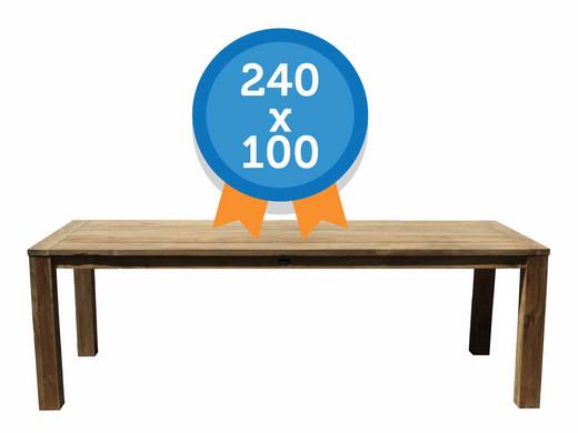 Moodzz tafel van gerecycled teakhout buitentafel cm