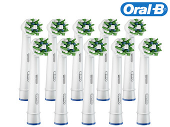 10x Oral-B CrossAction Opzetborstel